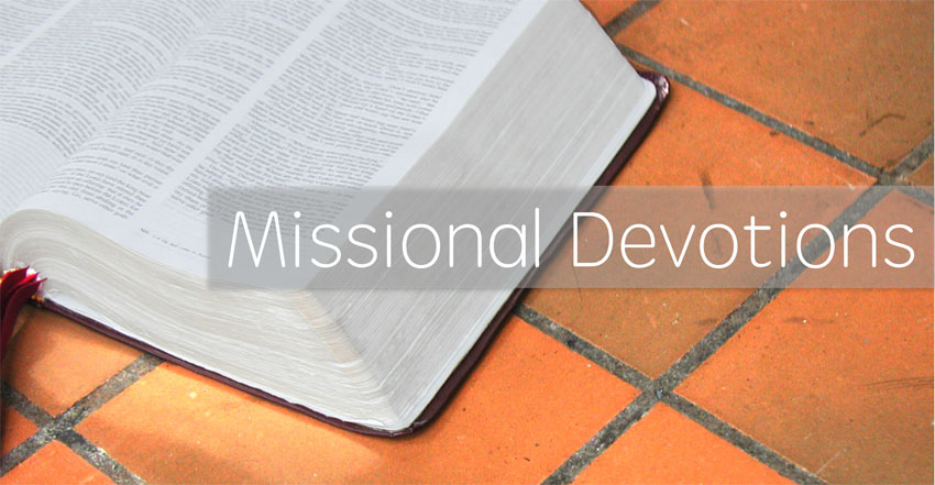 "Open Bible with text ""Missional Devotions"""