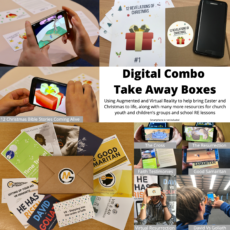 Digital combo takeaway boxes - Using augmented and veritual reality to help bring Easter and Christmas to life, along with many more resources for church youth and children's groups and school RE lessons
